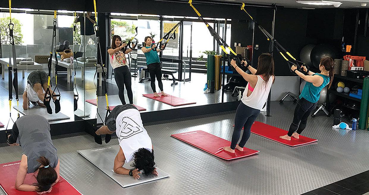 トレーニング中の写真